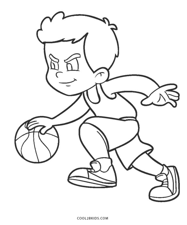 Free Printable Sports Coloring Pages for Kids - Cool23bKids