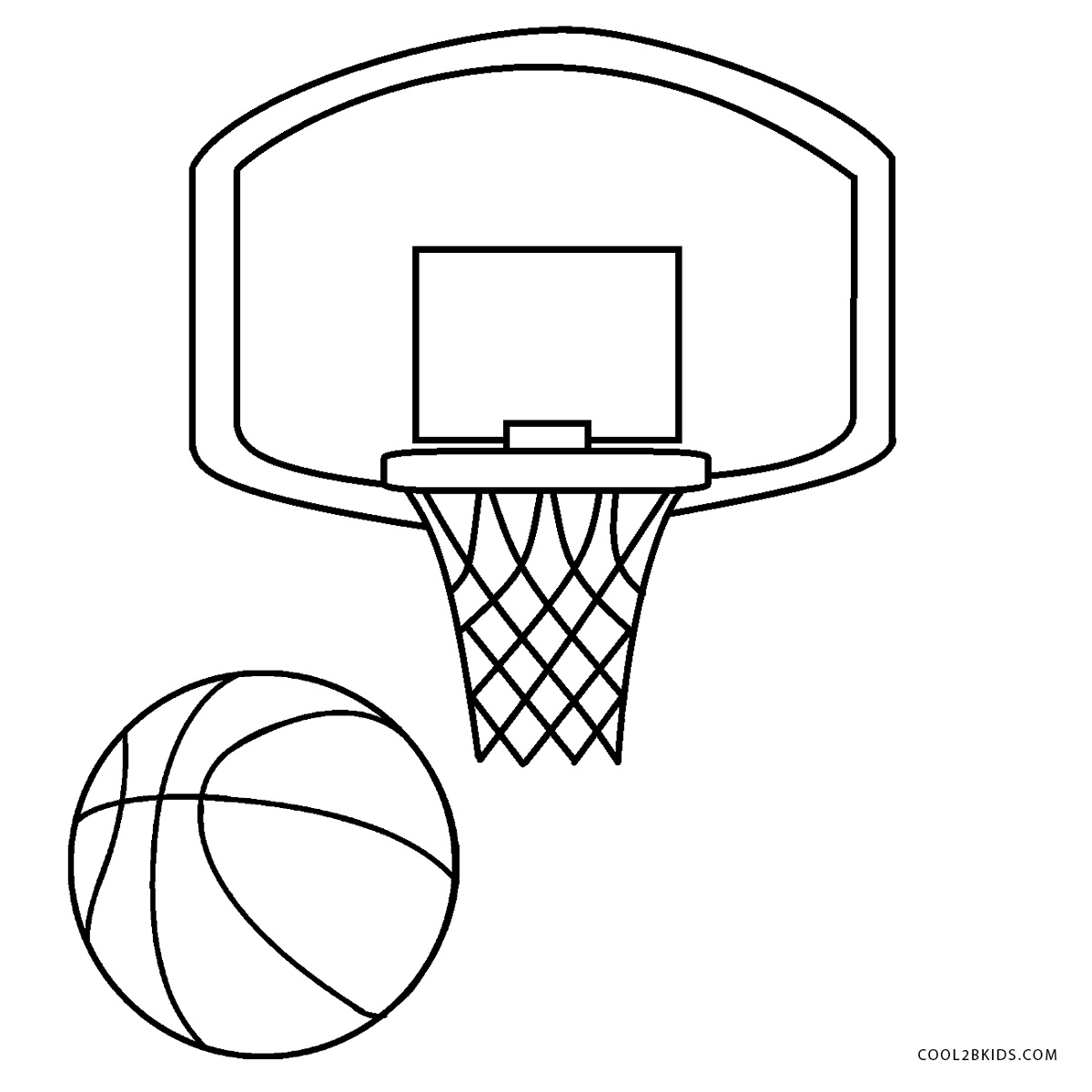 Free Printable Basketball Coloring Pages For Kids