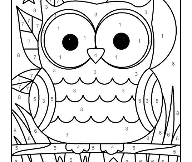 Free Color By Number Worksheets Coolbkids