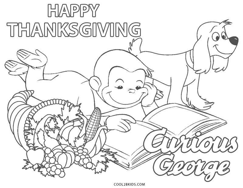 Free Printable Curious George Coloring Pages For Kids