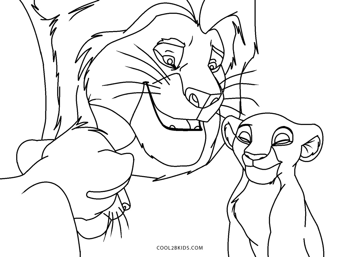 Free Printable Lion King Coloring Pages For Kids
