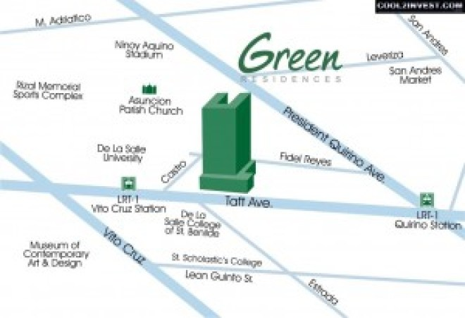 SMDC Green Residences Location Map Address
