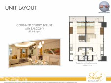 Shine Residences Combined Studio Deluxe Unit with Balcony