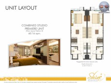 Shine Residences Combined Studio Permiere Unit