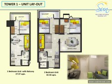 Sun Residences Tower 1 1 Bedroom and 2 Bedroom