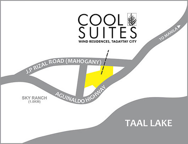 Cool Suites at Wind Residences 2016 - Location Map