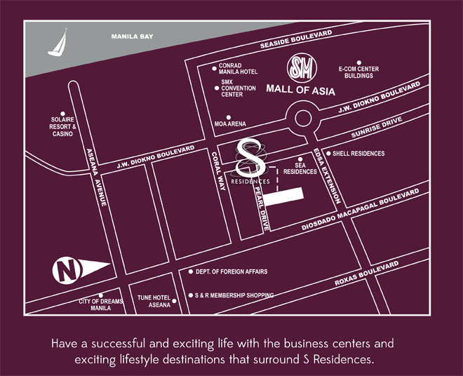 S Residences Actual Location Map