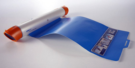 Yanko Designs Super Yoga mat plays yoga DVDs right on your mat!