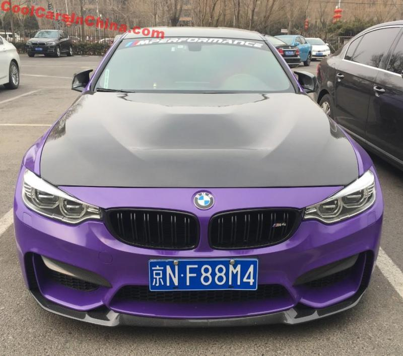 BMW M4 Is Slightly Modified In China