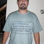 Hilarious Tshirt for those who didn't go to NECC2008 & love twitter