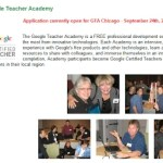 Google Teacher Academy Applications Due tomorrow, August 24