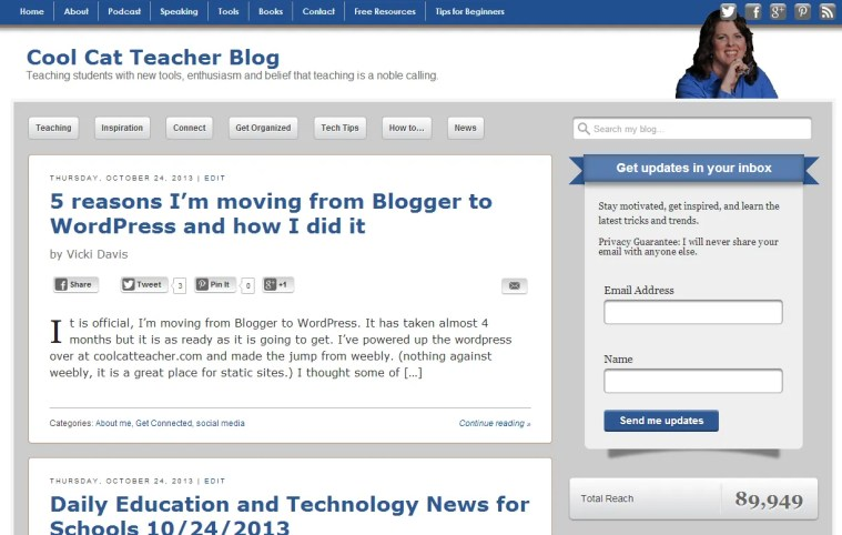 Moving coolcatteacher from Blogger to wordpress