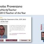Nicholas Provenzano talks about his classroom