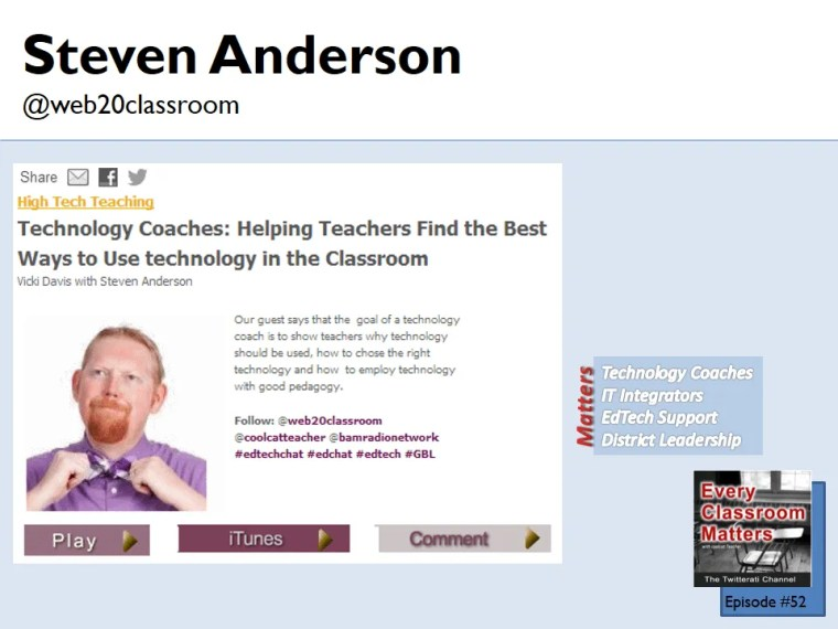 Steven Anderson and Technology coaches