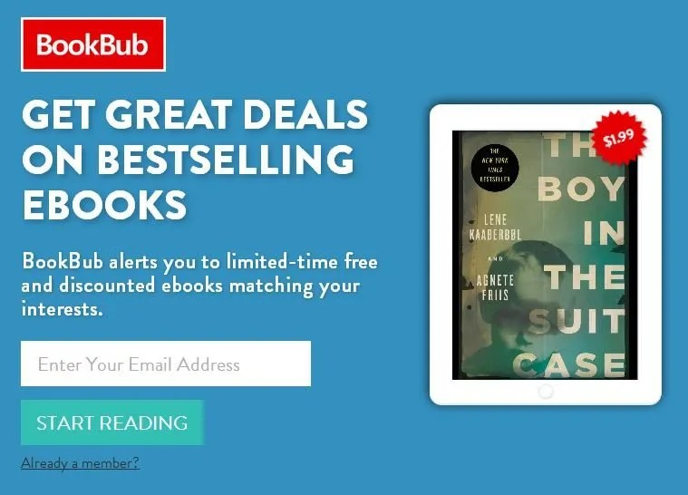 Book Bub will notify you of free and inexpensive ebooks
