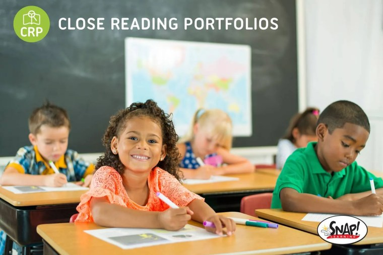 Close reading portfolios give you work for students to mark up