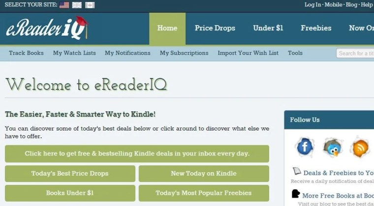 eReader IQ an ebook guide for finding free and inexpensive books