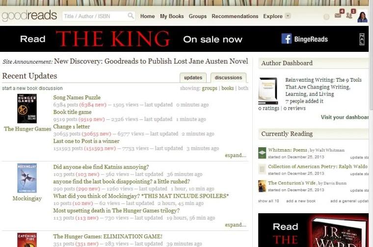 Goodreads eBook social network