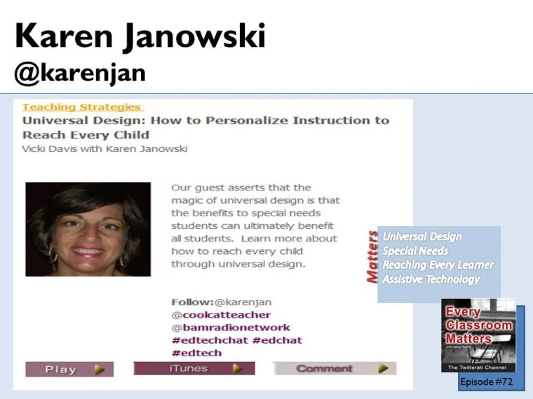 Karen Janowski teaches UDL principles on Every Classroom Matters