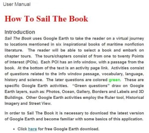 The opening excerpt of Ira Bickoff's Sail the Book Manual.