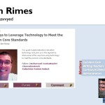 5 Ways to Leverage Technology to Meet Common Core Standards @techsavvyed