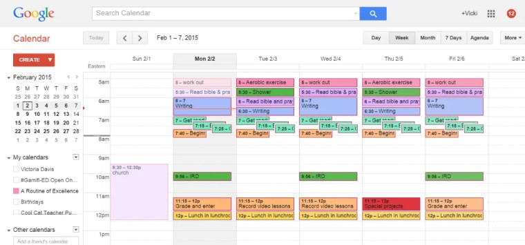 Plan your ideal week - here's mine.