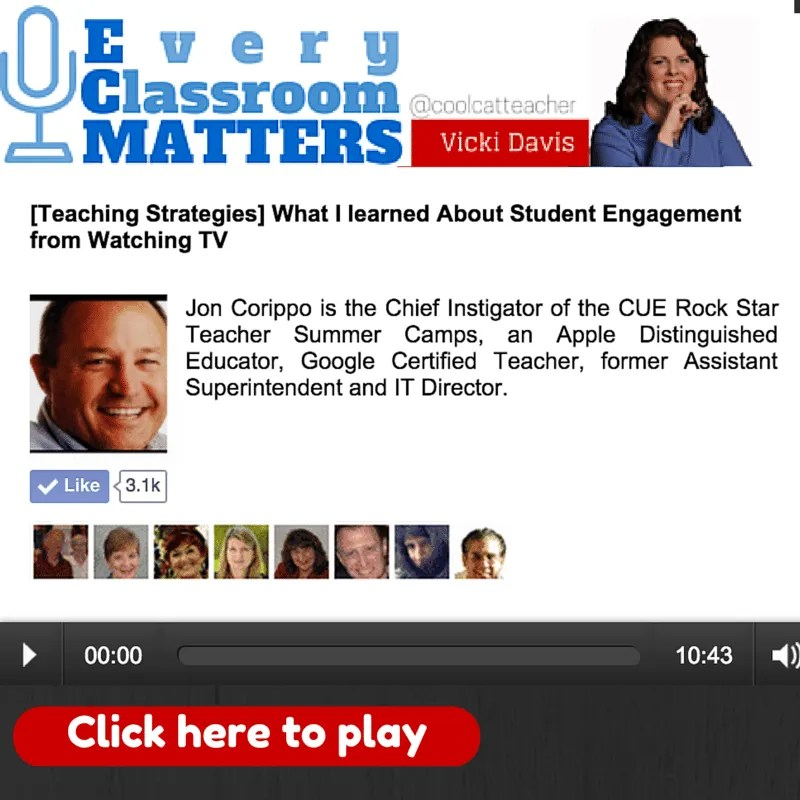 Click to play Jon Corippo and Iron Chef Lesson Plans Every Classroom Matters episode