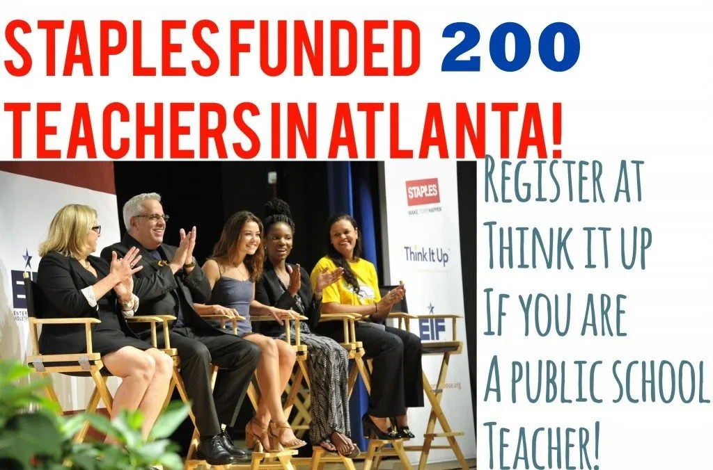 Staples funded 200 teachers in Atlanta
