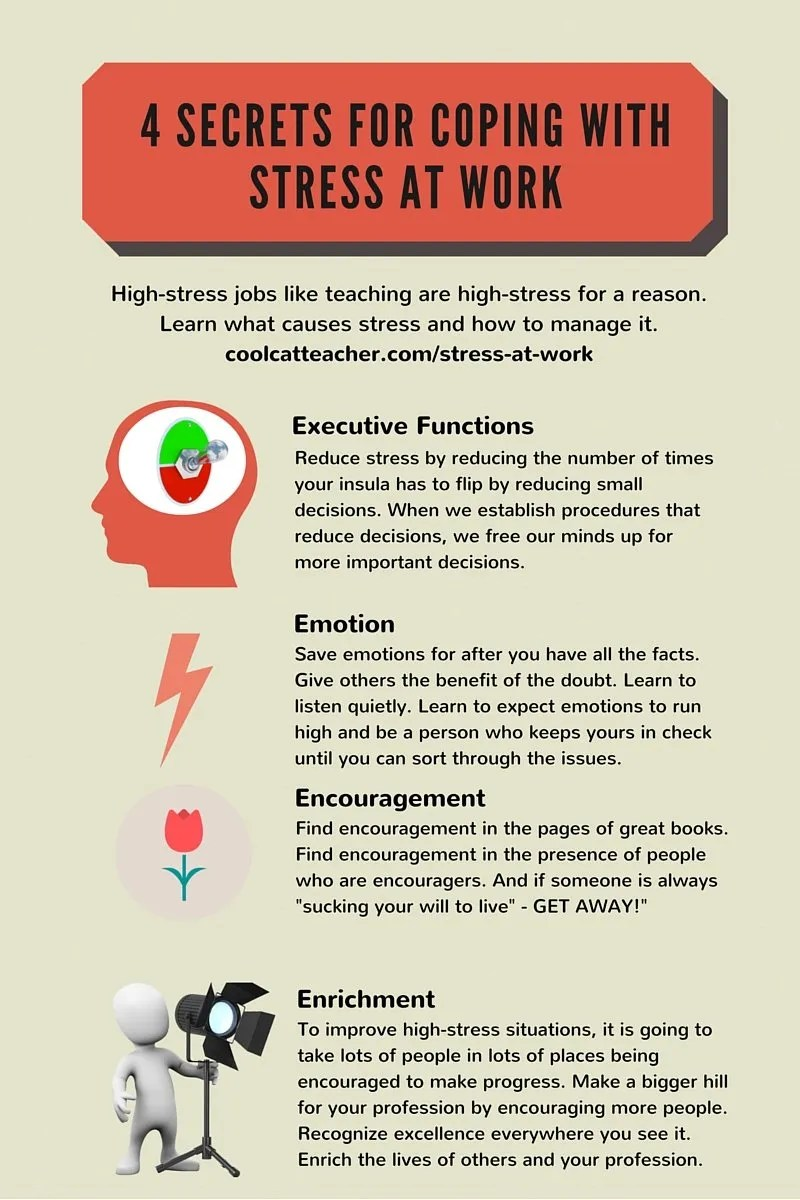 4 Secrets for cooping with stress at work