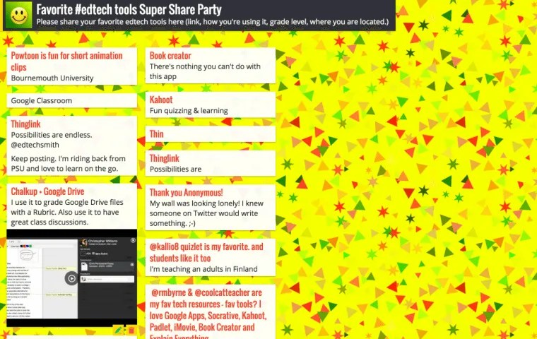 Padlet is awesome