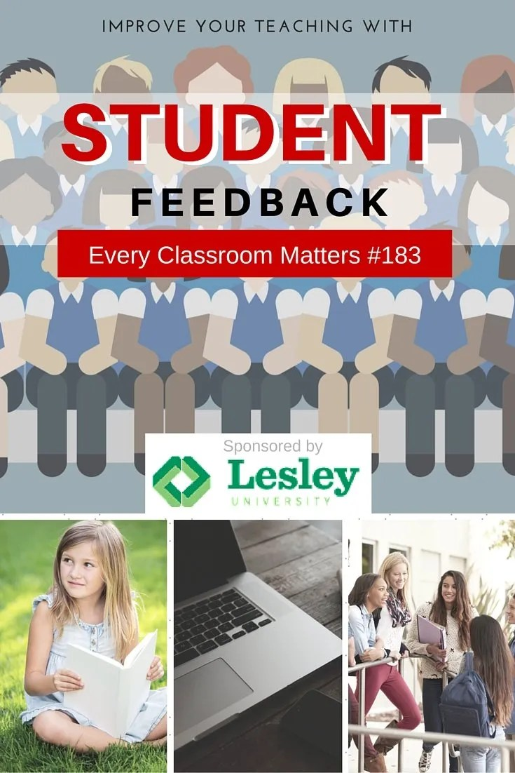 Improve your teaching with student feedback.
