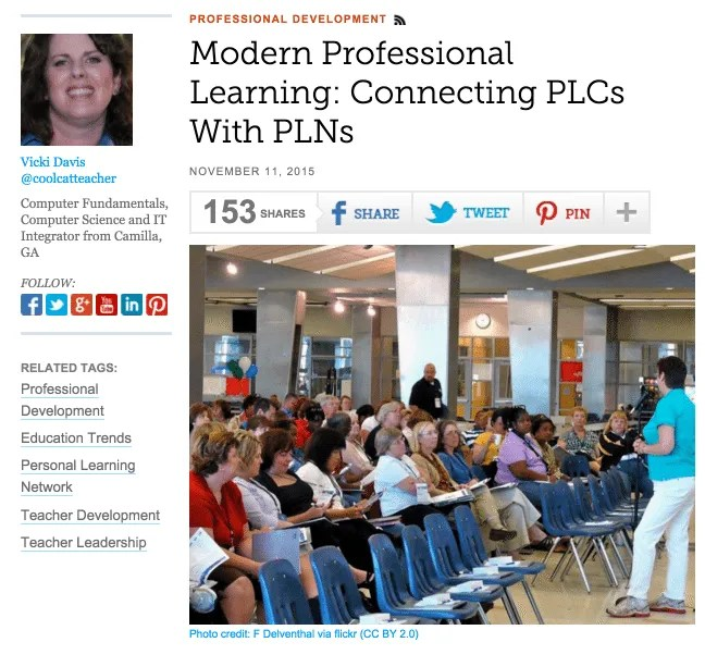 Modern professional learning