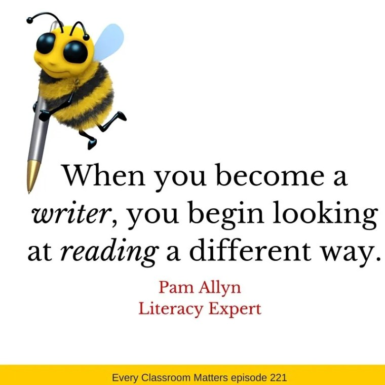 When you become a writer you begin looking at reading in a different way.