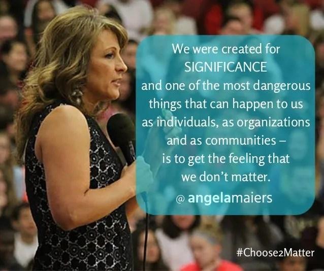 choose to matter angela Maiers