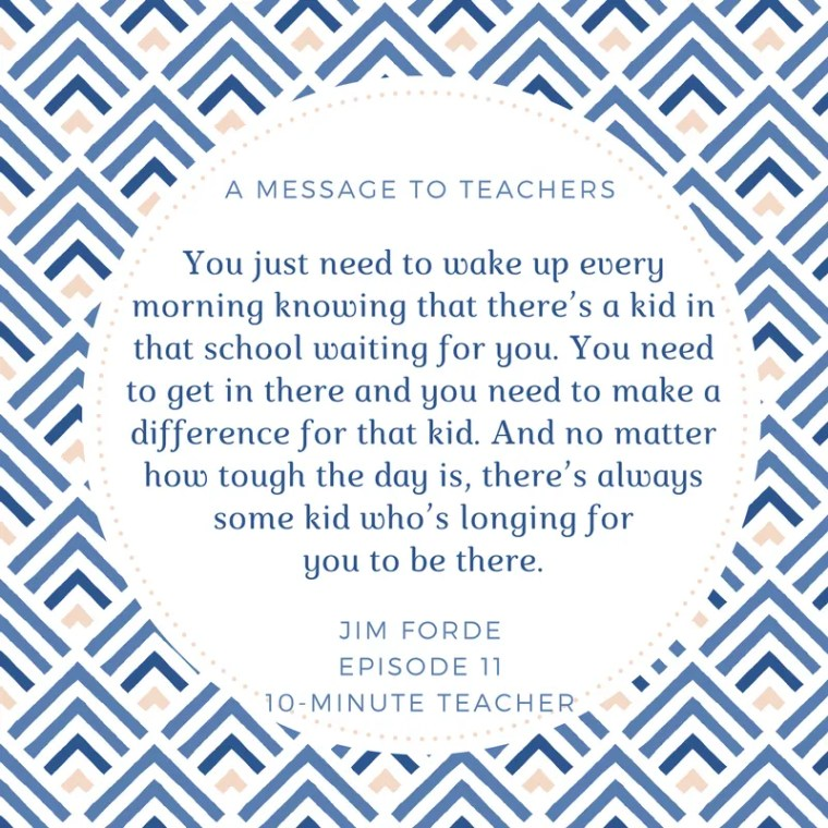 a message to teachers