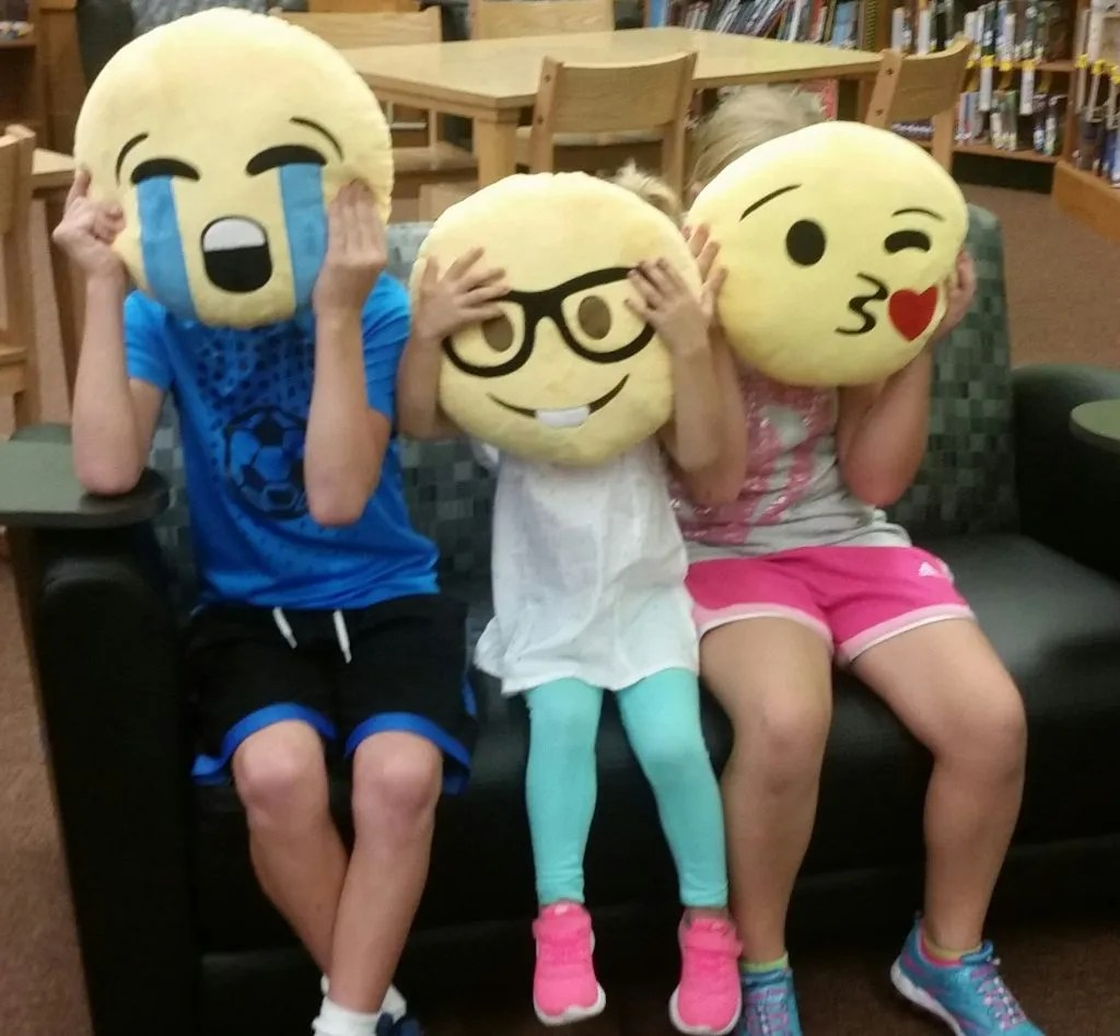 Pretend and play is an important part of learning and sharing in the library.