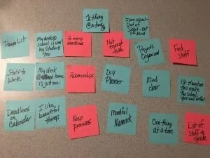 Brain Dump with Post it Notes