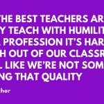 Why Teachers Should Talk about Teaching
