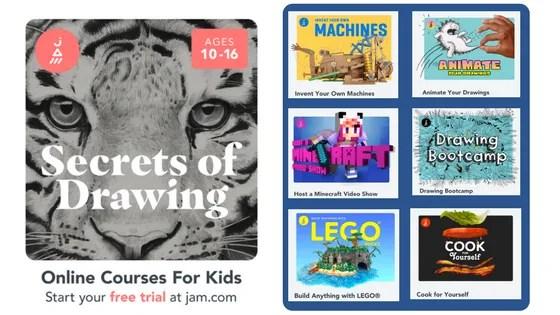 JAM online courses for kids