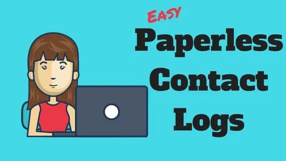paperless contact logs admin
