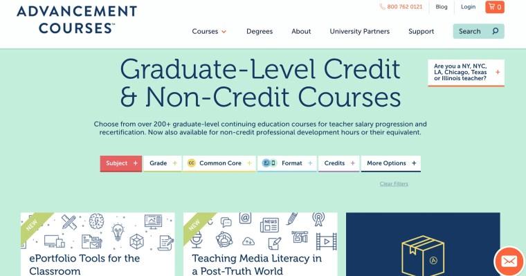 Advancement Courses teacher Professional DEvelopment