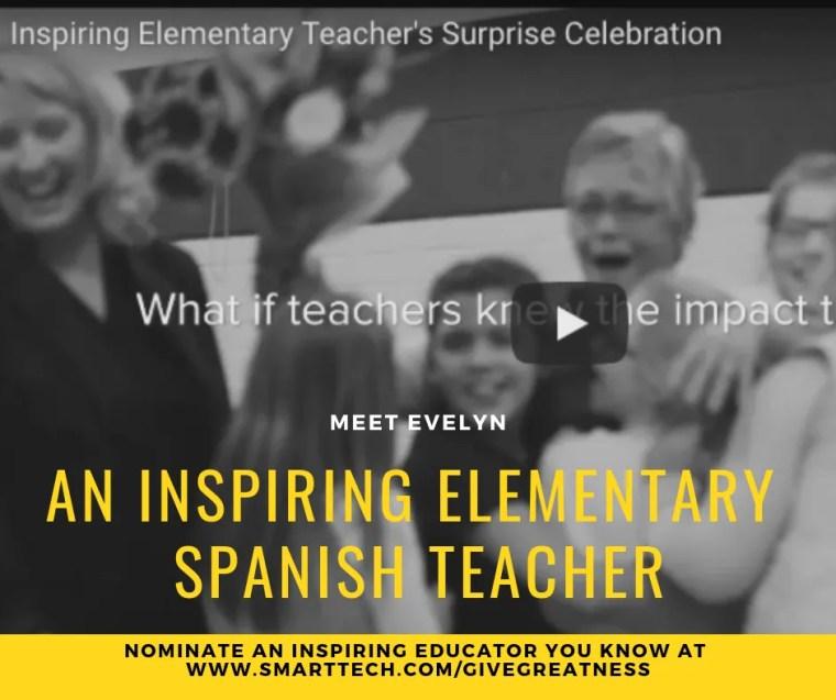 Giving Greatness Evelyn Elementary Spanish Teacher