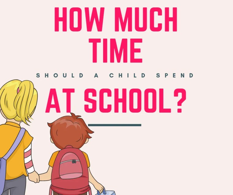 child spend at school