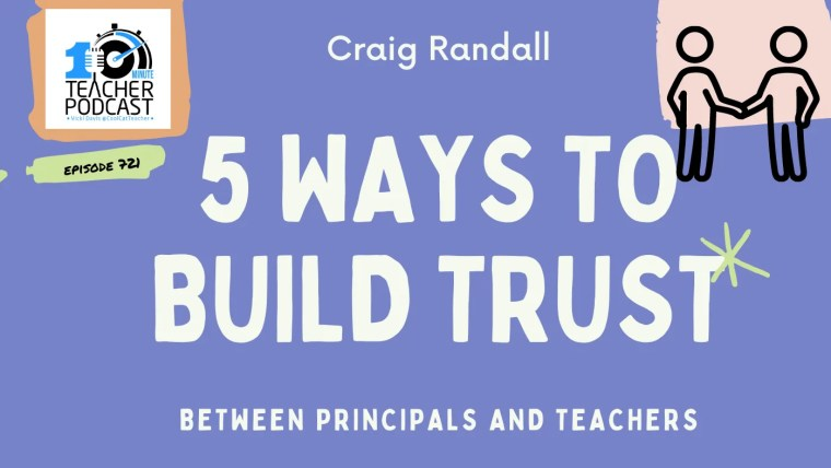 build trust between teachers and principals