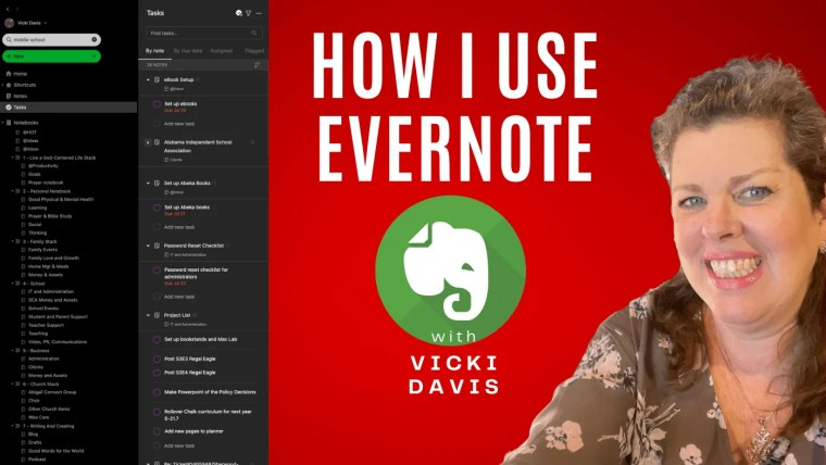 How I use Evernote and Evernote tasks