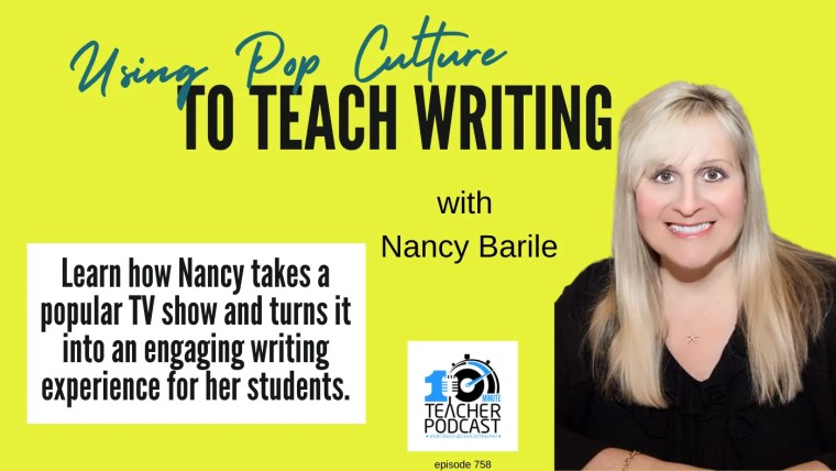 how to teach writing with pop culture