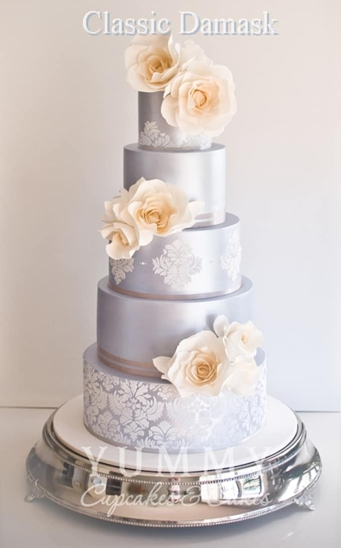 silver wedding cake     Cool Crafts silver wedding cake