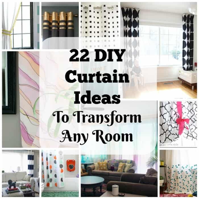 22 elegant and simple diy curtain ideas