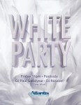 Atlantis Events White Party Invitation