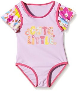 "Aquatinto – Baby Mädchen Badebekleidung Badeanzug ""Cute Little"" – lila/pink"